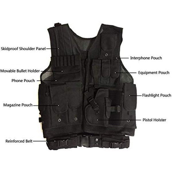 HAOWUTX Airsoft Tactical Vest 2 HAOWUTX Tactical Vest Outdoor Military Vest Wild Adventure Airsoft Hunting Tactical Vest