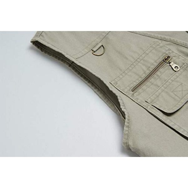 DAFREW Airsoft Tactical Vest 6 DAFREW Multi-Pocket Vest Outdoor Casual Photography Vest Fishing Vest Cotton Breathable Vest (Color : Khaki, Size : L)
