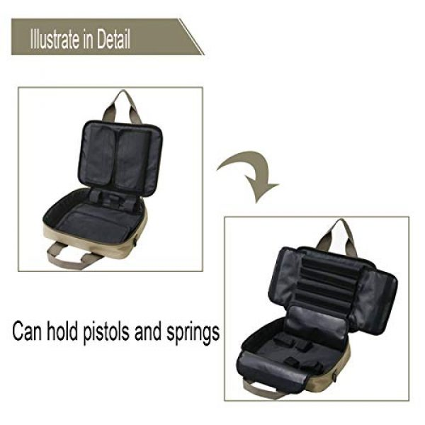 HSIDS Pistol Case 6 HSIDS Single Pistol Soft Tactical Case