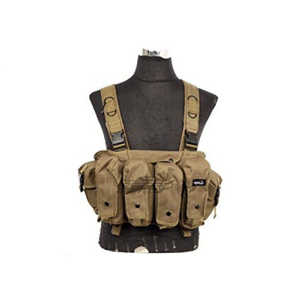 Lancer Tactical Airsoft Tactical Vest 1 Lancer Tactical CA-308T AK Chest Rig in Tan