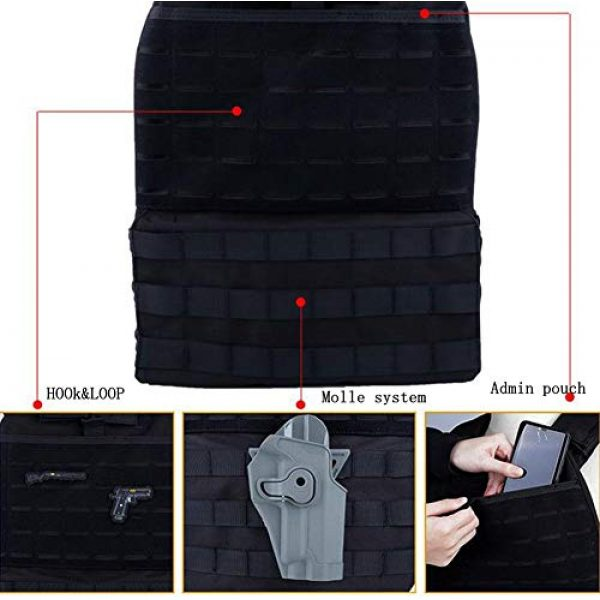JFFCE Airsoft Tactical Vest 6 JFFCE Tactical Vest Fully Adjustable for Shooting Hunting Outdoor Activities