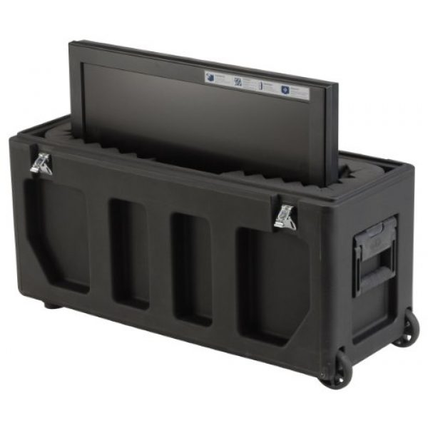 SKB Pistol Case 5 SKB Equipment Case, Roto-Molded LCD Case fits 20 - 26 Screens, Universal Foam Pad Set