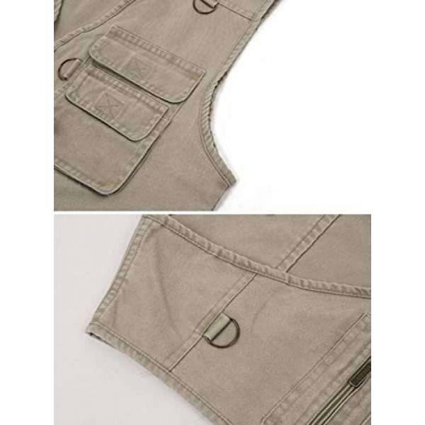 DAFREW Airsoft Tactical Vest 6 DAFREW Men's Outdoor Vest, Spring and Autumn Casual Outdoor Vest, Multi-Pocket Photography Cotton Fishing Vest (Color : Blue, Size : XXL)