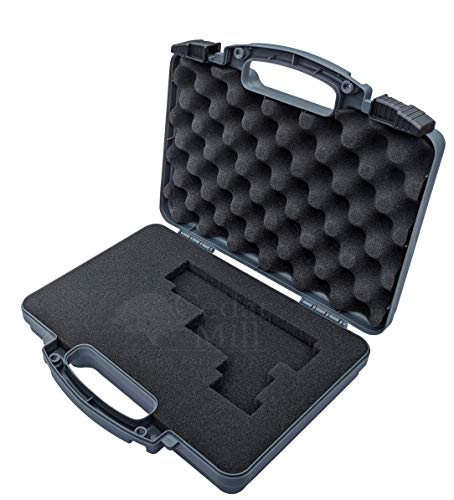 Cedar Mill Fine Firearms Pistol Case 3 Cedar Mill Fine Firearms -Worlds Smallest Micro Pistol Cleaning Kit for Handguns | Free Super-X Tool Bundle with Hard Gun Case Pistol Case (Urban Gray) |TSA Approved with Pick and Pluck Foam (2 items)