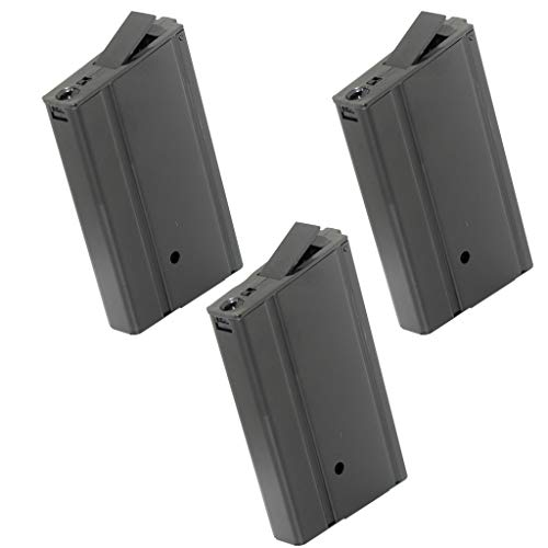 Generica  1 Airsoft Spare Parts CYMA 3pcs 400rd Hi-Cap Mag Magazine for CYMA Tokyo Marui M14 Series AEG Black