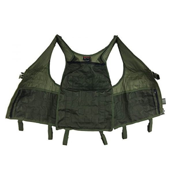 Maddog Airsoft Tactical Vest 2 Maddog Tactical MOLLE Modular Utility Vest with Breathable Mesh Liner and Heavy Duty Zipper - Adjustable Sizing