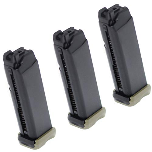 Generica  1 Generica Airsoft Spare Parts APS 3pcs 23rd CO2 Magazine for ACP601 ACP606 A-Cap Z1-Cap Black Hornet Dragonfly Scorpion Shark Spyder X1-Cap/Tokyo Marui/WE/Armorer Works Black/Green OD