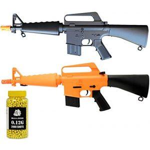 A&N Airsoft Rifle 1 A&N Limited Edition M16 Mini Airsoft Spring Rifle Gun Set of 2 Airsoft Rifle with 6mm 2000 Bulldog BB Pellets