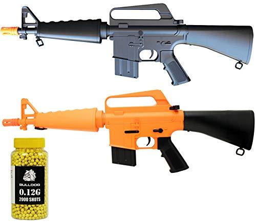 A&N  1 A&N Limited Edition M16 Mini Airsoft Spring Rifle Gun Set of 2 Airsoft Rifle with 6mm 2000 Bulldog BB Pellets