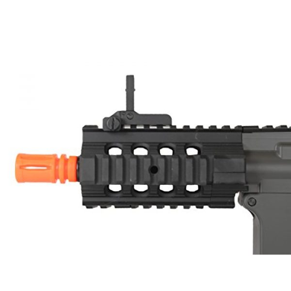 MetalTac Airsoft Rifle 5 MetalTac Electric Airsoft Gun M4 Stubby CQB JG-F6632 with Rail Mounting System, Metal Gearbox Version 2, Full Auto AEG, Upgraded Powerful Spring 380 Fps with .20g BBS