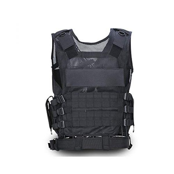 NEW VIEW Airsoft Tactical Vest 5 New View Tactical Vest Multi-Function Combat Training Suit with Multiple Pockets for 600D Encryption Nylon