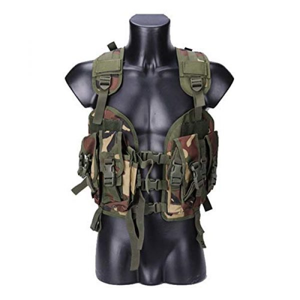 Shefure Airsoft Tactical Vest 6 Shefure The Seal Men Tactical Hunting Armor Vest Combat CS Wargame Military Camouflage Waterproof Water Bag Pouches Tactical Gear
