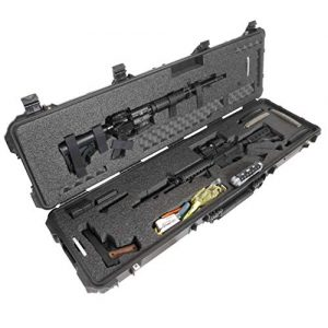 Case Club Rifle Case 1 Case Club 2 AR Pre-Cut Waterproof Rifle Case with Accessory Box & Silica Gel to Help Prevent Gun Rust (Gen 2)