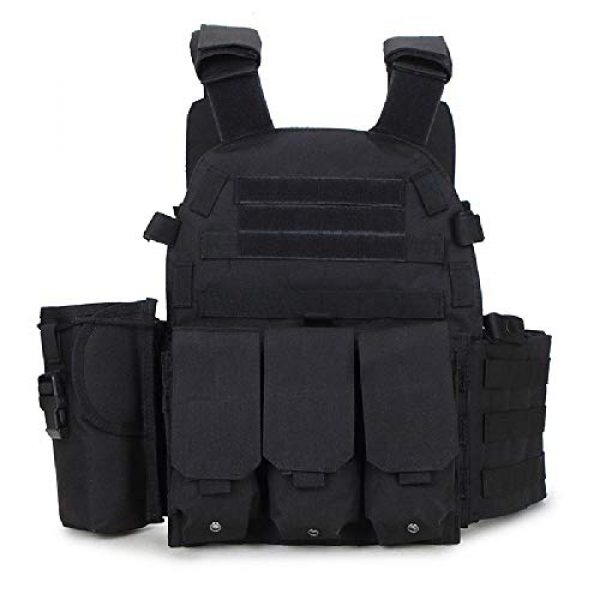 BGJ Airsoft Tactical Vest 4 Tactical 6094 Molle Vest Military Combat Body Armor Vest Army Airsoft Paintball Wargame Plate Carrier Vest Hunting Accessories