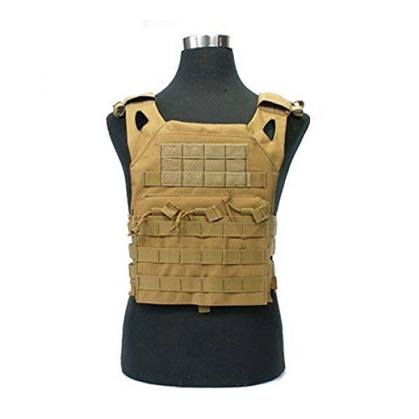 PJKKawesome Airsoft Tactical Vest 5 Tactical Vest Men's Vest Camouflage Breathable Vests with Multiple Pockets-Combat Training Vest Suitable for Outdoor Activities Khaki