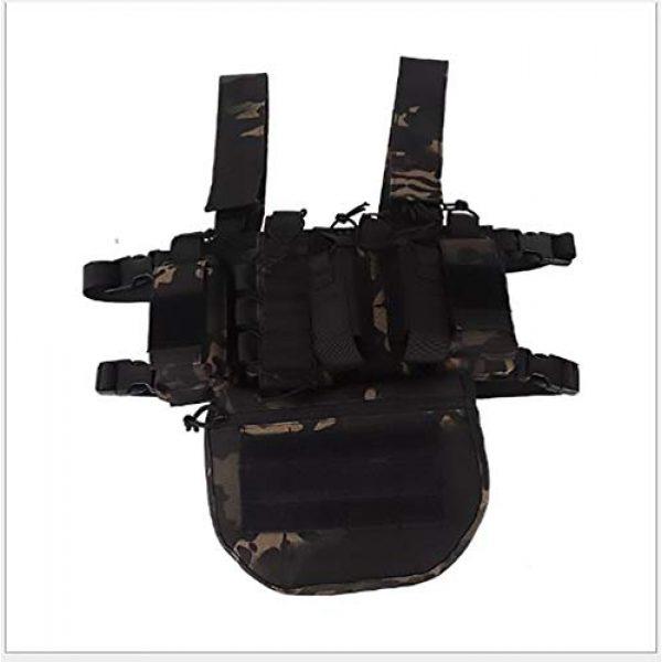 WEQ Airsoft Tactical Vest 1 WEQ Outdoor Tactical Vest Ultra-Light Breathable Modular Combat Training Vest Outdoor Combat Chest Vest Hanging Adjustable (Color : #A)