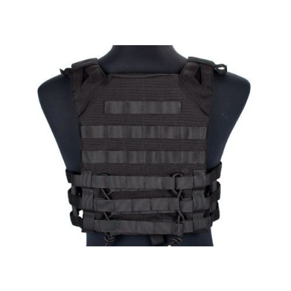 enmu pancho Airsoft Tactical Vest 3 Professional Airsoft Vest made with Durable nylon fabric - Black