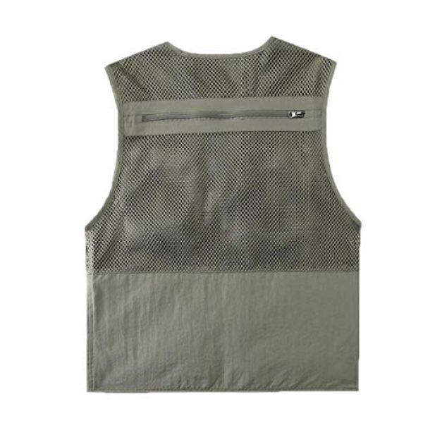DAFREW Airsoft Tactical Vest 2 DAFREW Spring and Autumn Vest Men's Outdoor Photography Vest Multi-Pocket Vest Grid Vest (Color : Beige, Size : M)