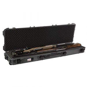 SURE LOCK Rifle Case 1 SureLock Security Renegade Wheeled Gun Case Double 53 in. Waterproof