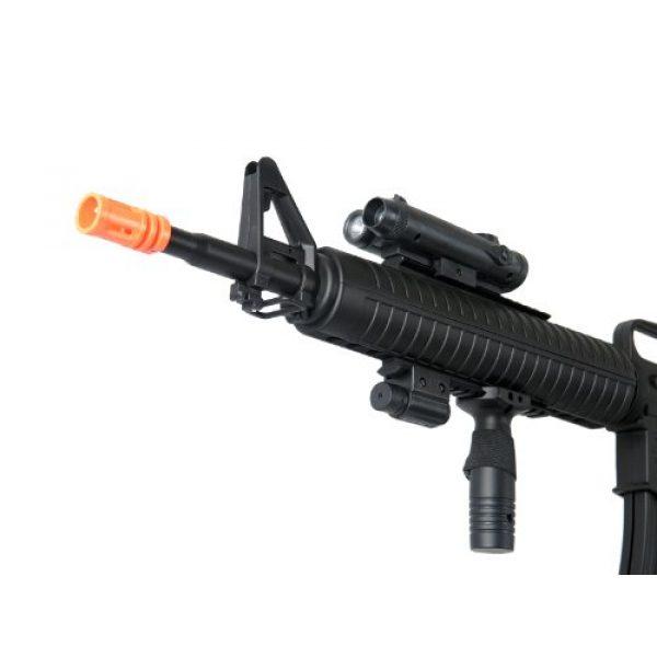 Well Airsoft Rifle 7 Well m16-a3 RIS Spring Airsoft Gun Assault Rifle fps-340 w/Aiming Sight, Flashlight, high Capacity Magazine(Airsoft Gun)