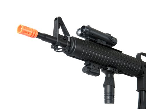 Well  3 Well m16-a3 RIS Spring Airsoft Gun Assault Rifle fps-340 w/Aiming Sight
