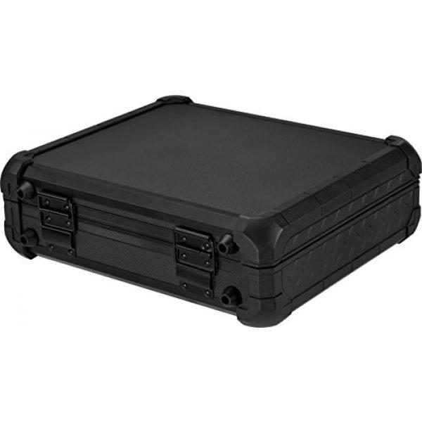BARSKA Pistol Case 4 Loaded Gear AX-50 Hard Case, Medium, Black by BARSKA