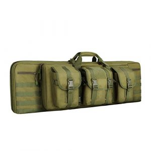 "Feastoria Rifle Case 1 Feastoria Tactical Double Long Soft Rifle Case, Transportation Carbine Gun Bag with Adjustable Shoulder Rifle Bag - 36"""