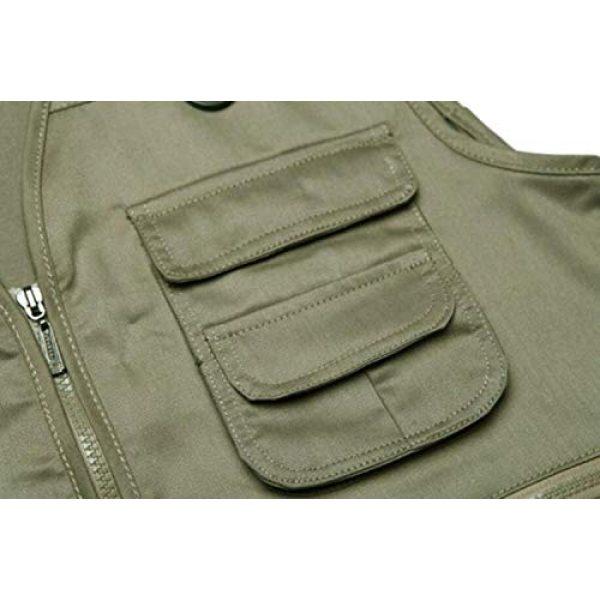 DAFREW Airsoft Tactical Vest 6 DAFREW Men's Vest Camera Vest Outdoor Leisure Fishing Vest Multi-Pocket Vest (Color : Red, Size : M)