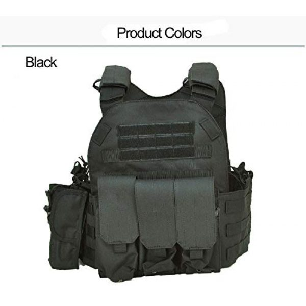 BGJ Airsoft Tactical Vest 7 BGJ Military Tactical Vest Army Airsoft Molle Vest CS Game Combat Gear Outdoor Various Accessory Kit Hunting Clothing Vest Multicam