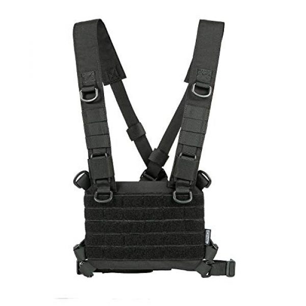 OneTigris Airsoft Tactical Vest 1 OneTigris ROC Chest Rig Tactical Modular Panel with Removable X Shoulder Strap and Mesh Backing