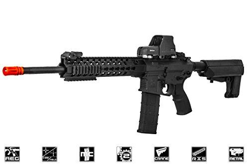 "Lancer Tactical  2 Lancer Tactical M4 Advance Recon Carbine 16"" AEG Airsoft Gun (Black)"
