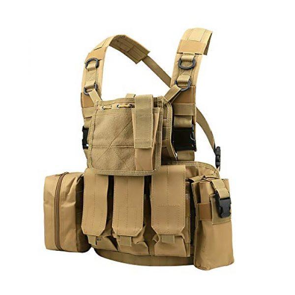 WEQ Airsoft Tactical Vest 1 WEQ Multifunctional Tactical Vest Modular Vest Reconnaissance Field CS Combat Vest (Color : #A)
