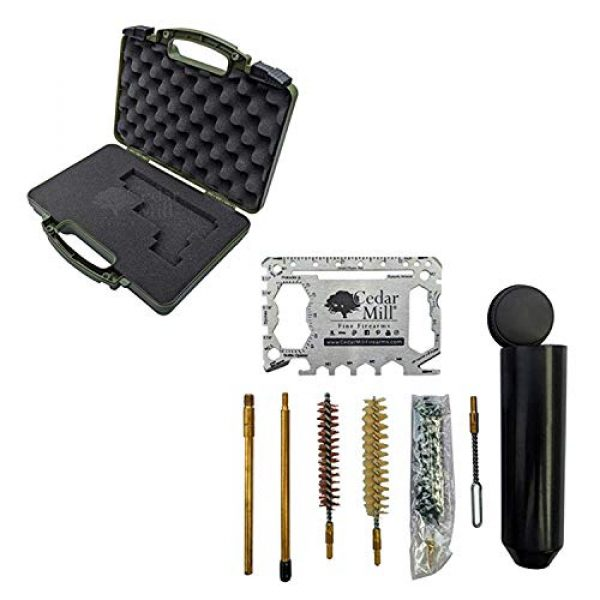 Cedar Mill Fine Firearms Pistol Case 1 Cedar Mill Fine Firearms -Worlds Smallest Micro Pistol Cleaning Kit for Handguns | Free Super-X Tool Bundle with Hard Gun Case Pistol Case |TSA Approved with Pick and Pluck Foam (2 Items)