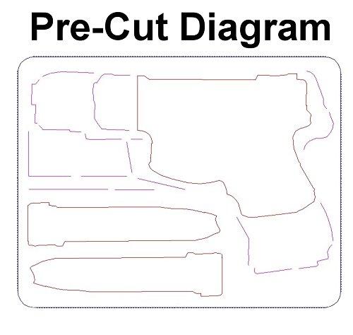 Case Club Pistol Case 5 Case Club Single Pistol Pre-Cut Waterproof Case (Gen 2)