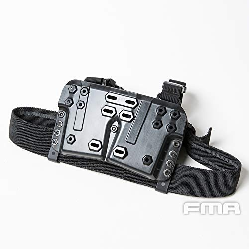 FMA  3 FMA Drop Leg Mag Carrier BK for Tactical Airsoft Hunting Game