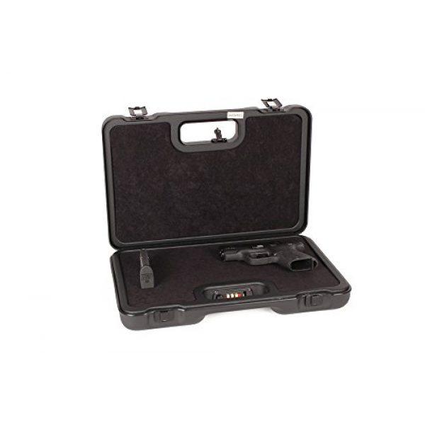 Negrini Cases Pistol Case 1 Negrini Cases 2023UTS/4839 Handgun Case (1 Gun), Black/Black