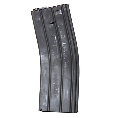 LONEX  1 LONEX Airsoft M4 M16 Scar Metal Black Flash Magazine MAG 360RDS ASG Pull Cord