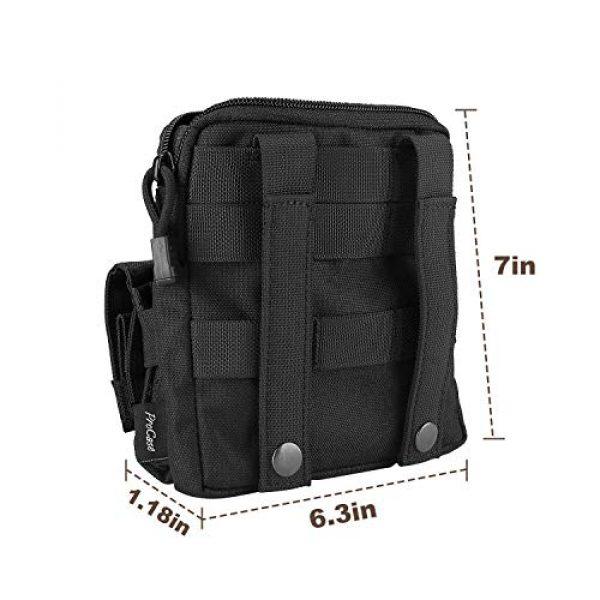 ProCase Pistol Case 4 ProCase Tactical Gun Range Bag for Handguns, Pistols and Ammo Bundle with Tactical Pistol Mag Pouch -Black