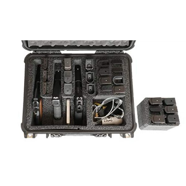 Case Club Pistol Case 2 Case Club 3 Pistol & Accessory & Up to 23 Magazines Pre-Cut Waterproof Case with Silica Gel to Help Prevent Gun Rust (Gen 2)