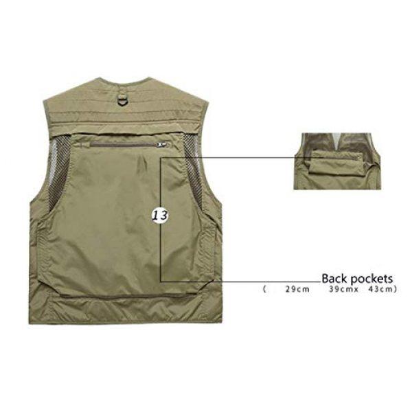 DAFREW Airsoft Tactical Vest 6 DAFREW Summer Vest Men's Quick-Drying Vest Outdoor Leisure Vest Multi-Pocket Detachable Vest (Color : Dark Blue, Size : M)