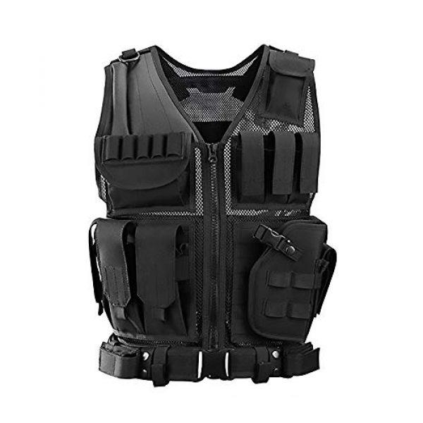 WEQ Airsoft Tactical Vest 1 WEQ Tactical Vest Modular Charge Vest Police Vest Law Enforcement Vest Adjustable Breathable Combat Training Vest