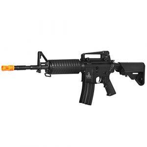 Lancer Tactical  1 Lancer Tactical LT-03B CRANE STOCK M4 AEG METAL GEAR (Color BLACK)
