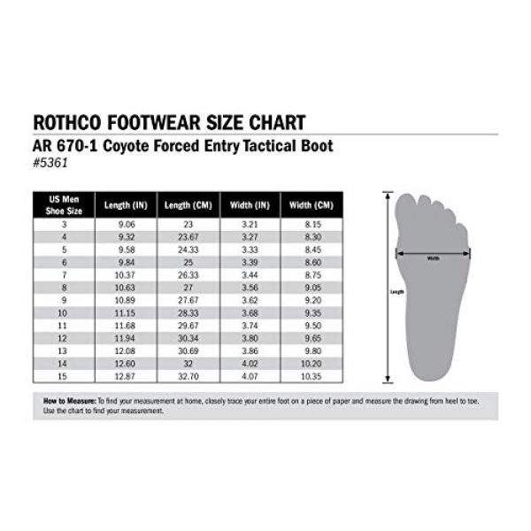 Rothco Combat Boot 5 AR 670-1 Coyote Forced Entry Tactical Boot