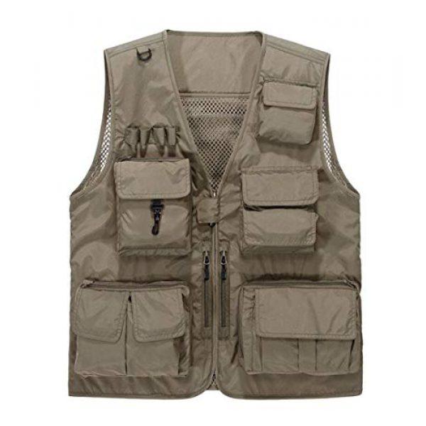 DAFREW Airsoft Tactical Vest 1 DAFREW Men's Casual Vest Outdoor Photography Vest Quick Dry Multi-Pocket Vest (Color : Khaki, Size : XL)