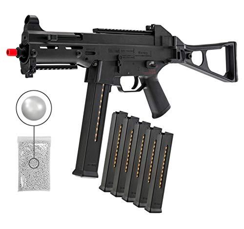 Wearable4U  1 Umarex HK Heckler&Koch UMP Elite AEG Electric Gen2 Automatic 6mm BB Rifle Airsoft Gun with Wearable4U Bundle
