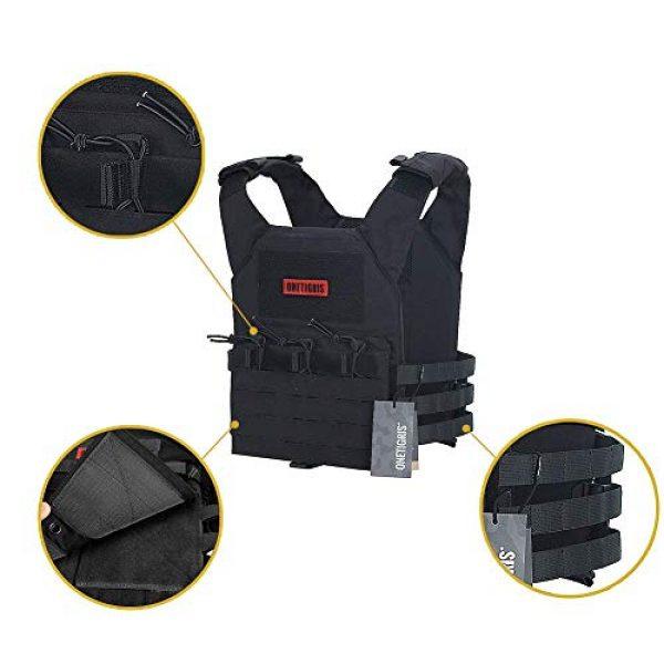 OneTigris Airsoft Tactical Vest 5 OneTigris Black Tactical Vest & Chest Rig Set