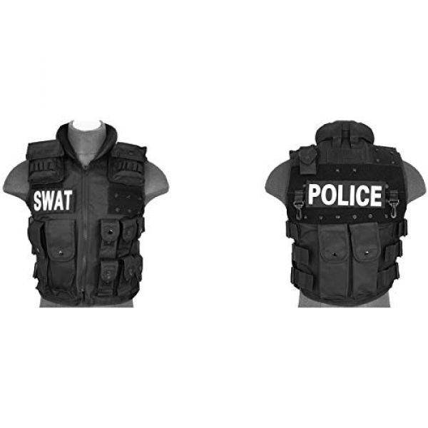 Lancer Tactical Airsoft Tactical Vest 2 Lancer Tactical UK Arms SWAT Police Law Enforcement Replica Tactical Vest with Patches