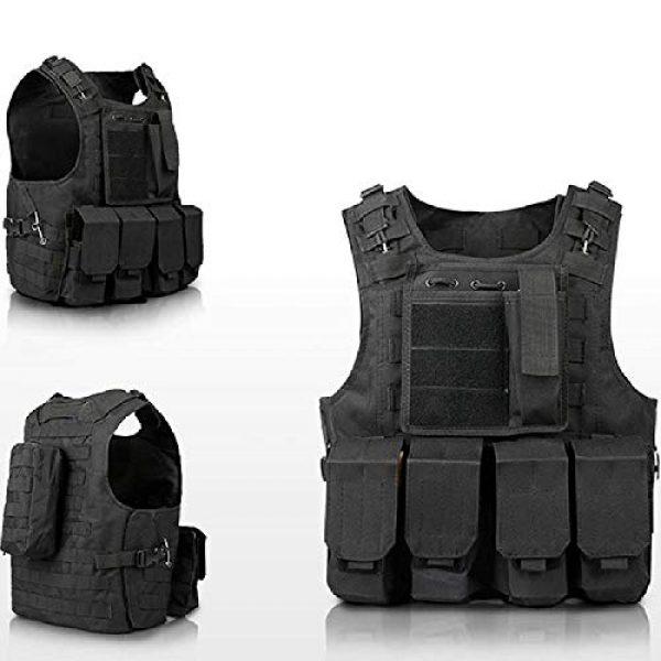 BGJ Airsoft Tactical Vest 7 BGJ Military Tactical Vest Equipment Molle Assault Carrier Airsoft Vest Outdoor Shooting CS Hunting Combat Camouflage Vest Gear
