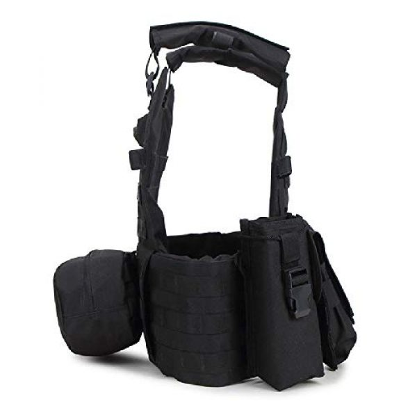 BGJ Airsoft Tactical Vest 6 Tactical 6094 Molle Vest Military Combat Body Armor Vest Army Airsoft Paintball Wargame Plate Carrier Vest Hunting Accessories