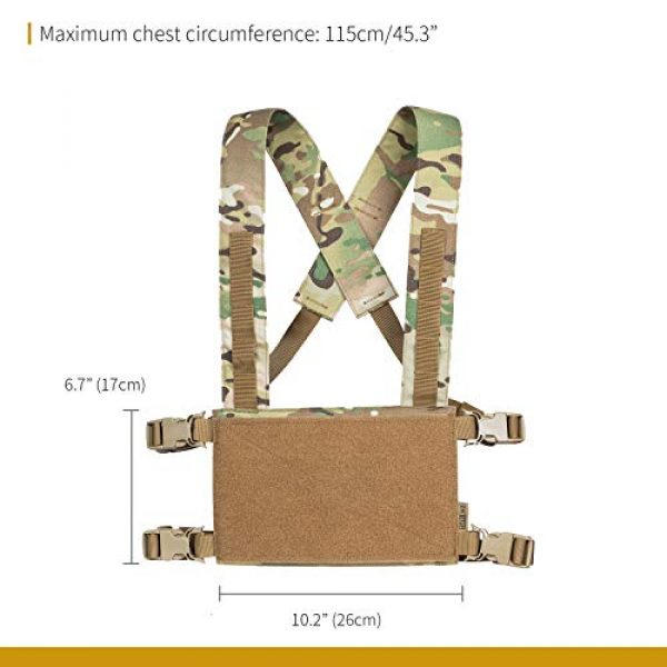 OneTigris Airsoft Tactical Vest 7 OneTigris Chest Rig Tactical Panel Placard Adapter (Multicam)